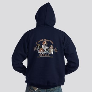 All About The Beagle Hoodie (dark)
