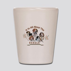 All About The Beagle Shot Glass