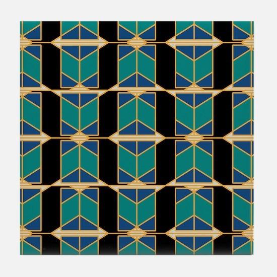 Art Deco Motif Tile Coaster
