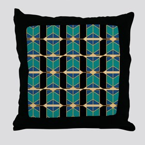 Art Deco Motif Throw Pillow