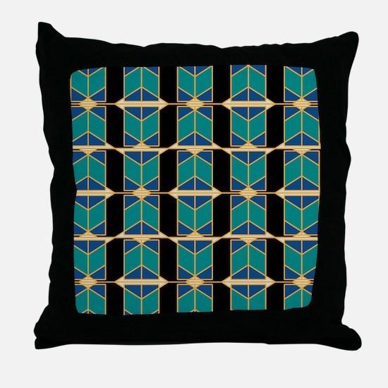 Art Deco Motif Throw Pillow