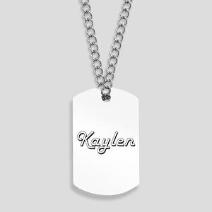 Kaylen Classic Retro Name Design Dog Tags