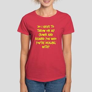 Princess crown Women's Dark T-Shirt