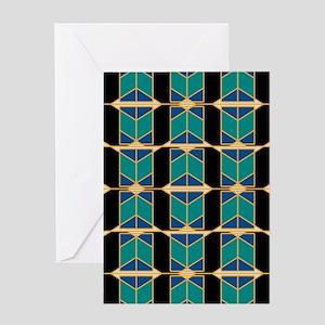 Art Deco Motif Greeting Cards