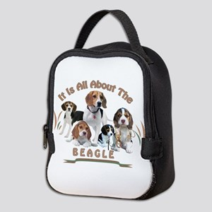 All About The Beagle Neoprene Lunch Bag