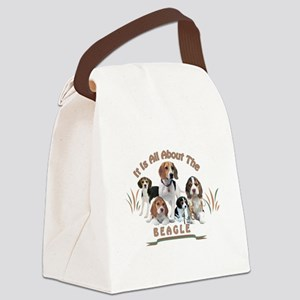 All About The Beagle Canvas Lunch Bag