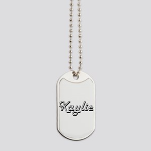 Kaylie Classic Retro Name Design Dog Tags