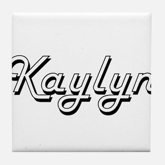 Kaylyn Classic Retro Name Design Tile Coaster