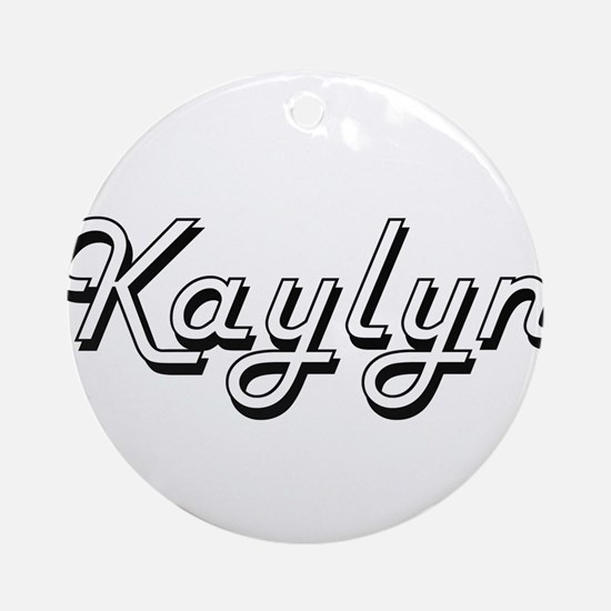 Kaylyn Classic Retro Name Design Ornament (Round)