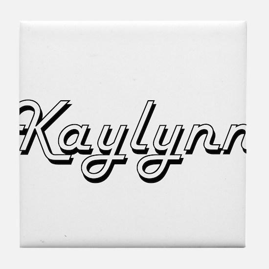 Kaylynn Classic Retro Name Design Tile Coaster