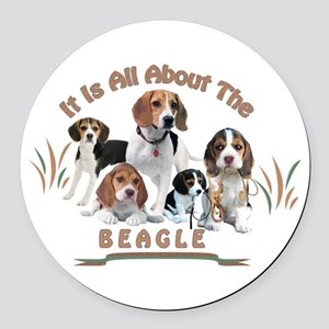 All About The Beagle Round Car Magnet
