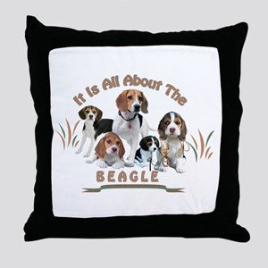 All About The Beagle Throw Pillow