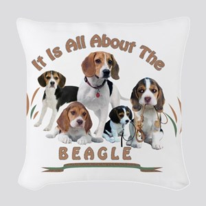 All About The Beagle Woven Throw Pillow
