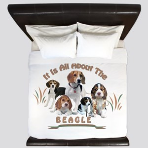 All About The Beagle King Duvet