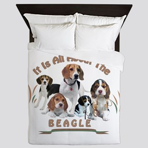 All About The Beagle Queen Duvet
