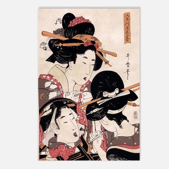 Ukiyoe Geisha Night Out Postcards (Package of 8)