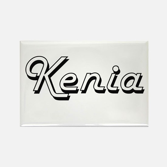 Kenia Classic Retro Name Design Magnets