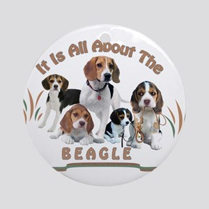 All About The Beagle Ornament (Round)