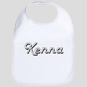 Kenna Classic Retro Name Design Bib