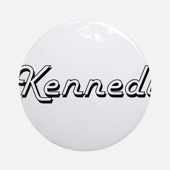 Kennedi Classic Retro Name Design Ornament (Round)