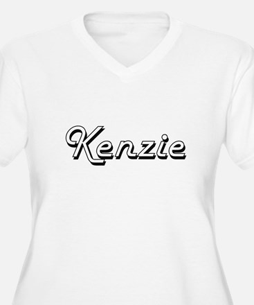 Kenzie Classic Retro Name Design Plus Size T-Shirt