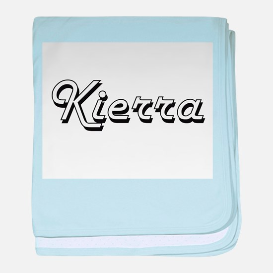 Kierra Classic Retro Name Design baby blanket