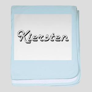 Kiersten Classic Retro Name Design baby blanket