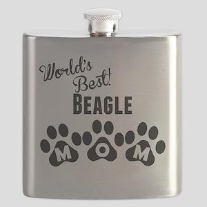 Worlds Best Beagle Mom Flask