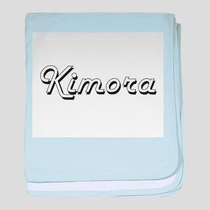 Kimora Classic Retro Name Design baby blanket