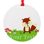 Personalizable Fox in the Woods Ornament