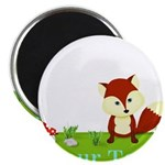 Personalizable Fox in the Woods Magnets