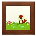 Personalizable Fox in the Woods Framed Tile