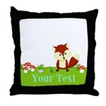 Personalizable Fox in the Woods Throw Pillow