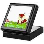 Personalizable Fox in the Woods Keepsake Box
