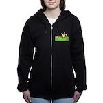 Personalizable Fox in the Woods Women's Zip Hoodie