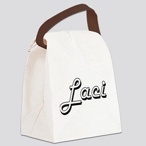 Laci Classic Retro Name Design Canvas Lunch Bag