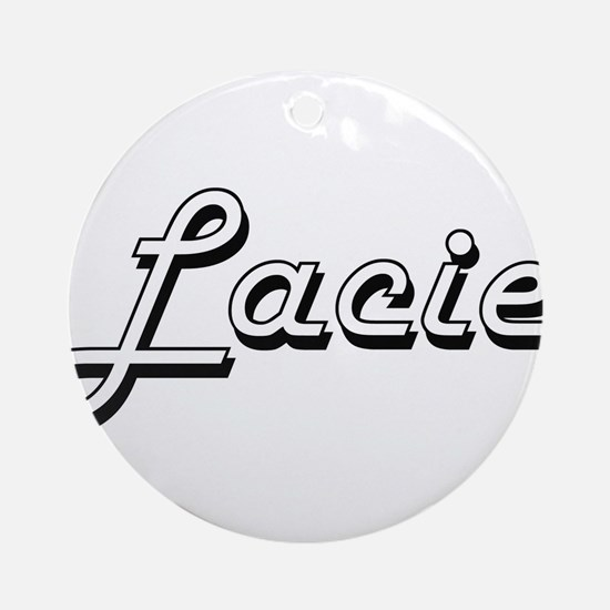 Lacie Classic Retro Name Design Ornament (Round)