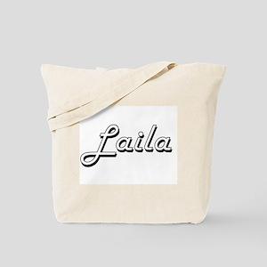 Laila Classic Retro Name Design Tote Bag