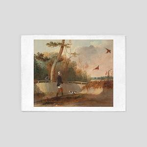 Pheasant Shooting 5'x7'Area Rug