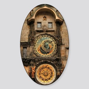 Astronomical Clock Sticker (Oval)