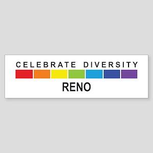 RENO - Celebrate Diversity Bumper Sticker