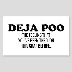 Deja Poo Sticker