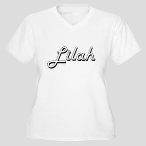 Lilah Classic Retro Name Design Plus Size T-Shirt