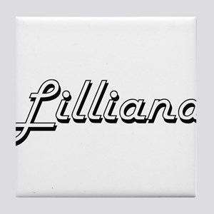 Lilliana Classic Retro Name Design Tile Coaster