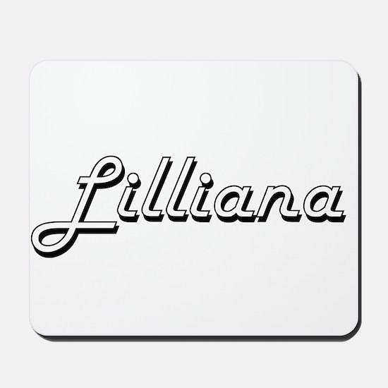 Lilliana Classic Retro Name Design Mousepad