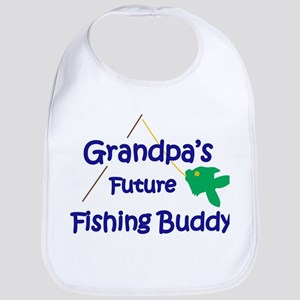 Grandpa's Future Fishing Buddy Bib