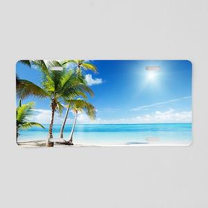 Paradise Corner Aluminum License Plate