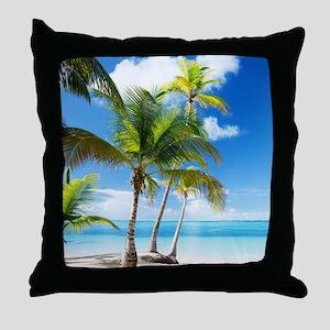 Paradise Corner Throw Pillow