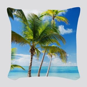 Paradise Corner Woven Throw Pillow