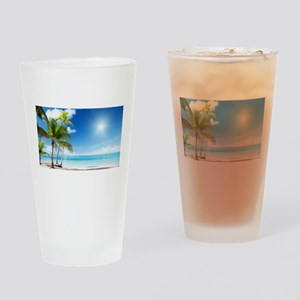 Paradise Corner Drinking Glass